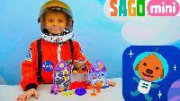 Астронавт Даник и его детский скафандр - Играем с космической ракетой песика Харви и смотрим мультик