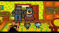 Три котёнка (Сурдоперевод) Сезон 3 Серия 1. В душе поют снежинки